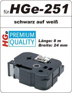 schwarz auf weiß - 100% HGe-251 (24 mm) komp.
