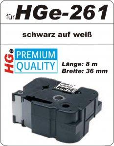 schwarz auf weiß - 100% HGe-261 (36 mm) komp.