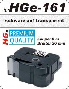 schwarz auf transparent - 100% HGe-161 (36 mm) komp.