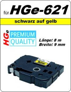 schwarz auf gelb - 100% HGe-621 (9 mm) komp.
