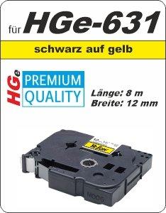 schwarz auf gelb - 100% HGe-631 (12 mm) komp.