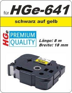 schwarz auf gelb - 100% HGe-641 (18 mm) komp.
