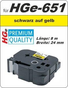 schwarz auf gelb - 100% HGe-651 (24 mm) komp.