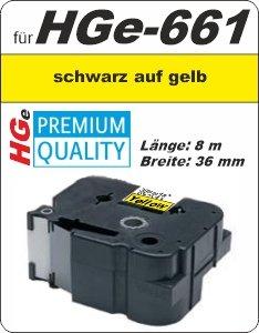 schwarz auf gelb - 100% HGe-661 (36 mm) komp.