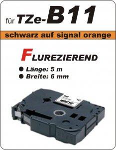 schwarz auf signalorange - 100% TZe-B11 (6 mm) komp.