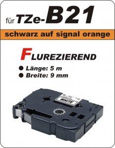 schwarz auf signalorange - 100% TZe-B21 (9 mm) komp.