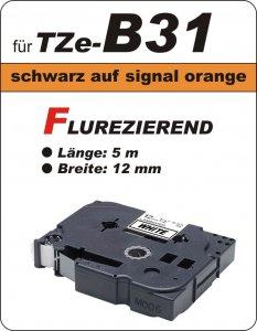 schwarz auf signalorange - 100% TZe-B31 (12 mm) komp.