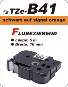 schwarz auf signalorange - 100% TZe-B41 (18 mm) komp.