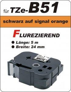 schwarz auf signalorange - 100% TZe-B51 (24 mm) komp.
