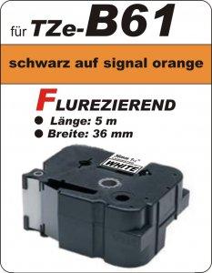 schwarz auf signalorange - 100% TZe-B61 (36 mm) komp.