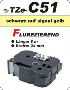 schwarz auf signalgelb - 100% TZe-C51 (24 mm) komp.