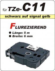 schwarz auf signalgelb - 100% TZe-C11 (6 mm) komp.
