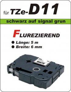 schwarz auf signalgrün - 100% TZe-D11 (6 mm) komp.