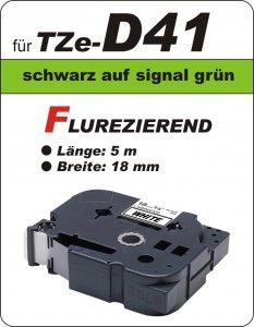 schwarz auf signalgrün - 100% TZe-D41 (18 mm) komp.