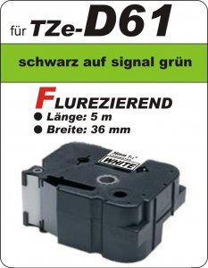 schwarz auf signalgrün - 100% TZe-D61 (36 mm) komp.