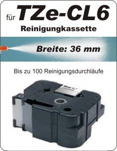 Reinigungskassette - 100% TZe-CL6 (36 mm) komp.