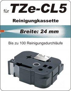 Reinigungskassette - 100% TZe-CL5 (24 mm) komp.