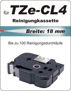 Reinigungskassette - 100% TZe-CL4 (18 mm) komp.