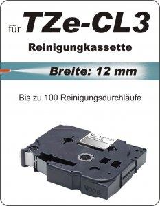 Reinigungskassette - 100% TZe-CL3 (12 mm) komp.