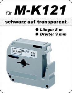 schwarz auf transparent - 100% M-K121(9 mm) komp.
