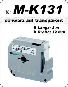 schwarz auf transparent - 100% M-K131 (12 mm) komp.