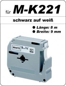 schwarz auf weiß - 100% M-K221(9 mm) komp.