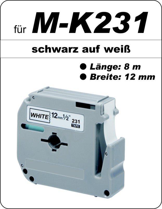 schwarz auf weiß - 100% M-K231 (12 mm) komp.