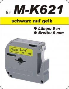 schwarz auf gelb - 100% M-K621(9 mm) komp.