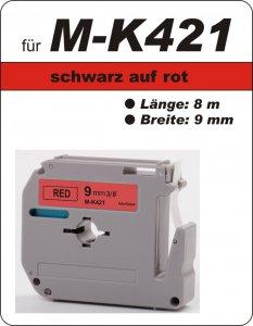 schwarz auf rot - 100% M-K421(9 mm) komp.