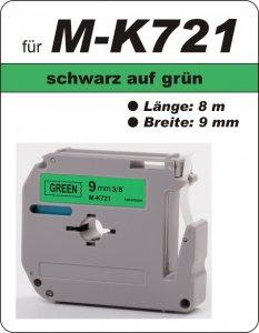 schwarz auf grün - 100% M-K721(9 mm) komp.