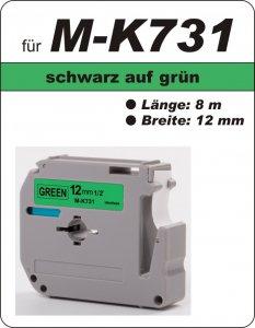 schwarz auf grün - 100% M-K731 (12 mm) komp.
