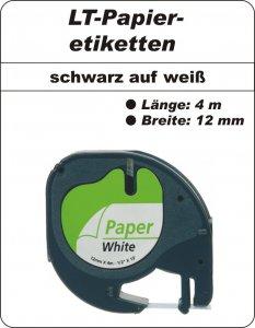 schwarz auf weiß - (12 mm)
