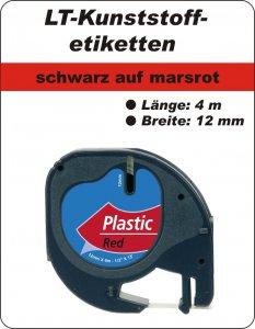 schwarz auf marsrot - (12 mm)