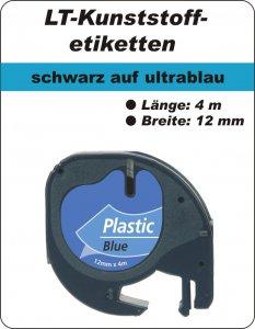 schwarz auf ultrablau - (12 mm)