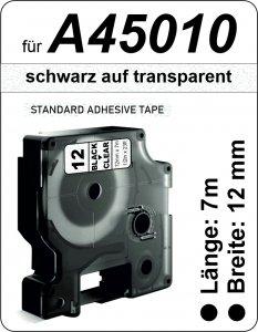schwarz auf transparent - (12 mm)