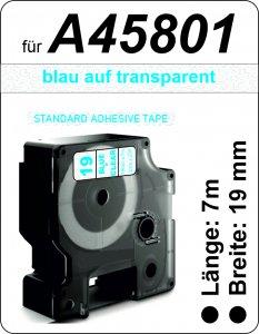 blau auf transparent - (19 mm)