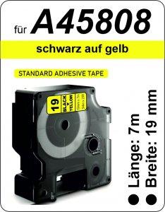 schwarz auf gelb - (19 mm)