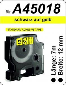 schwarz auf gelb - (12 mm)
