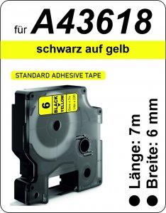 schwarz auf gelb - (6 mm)