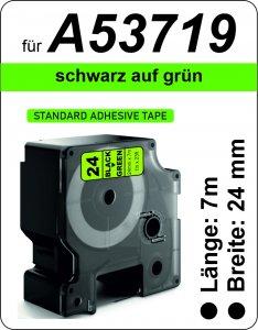 schwarz auf grün - (24 mm)