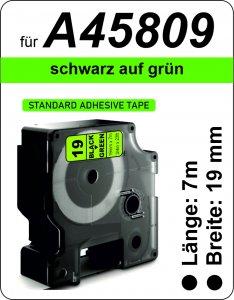 schwarz auf grün - (19 mm)