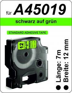 schwarz auf grün - (12 mm)
