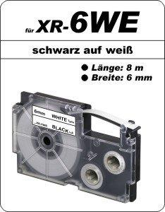 schwarz auf weiß - (6 mm)