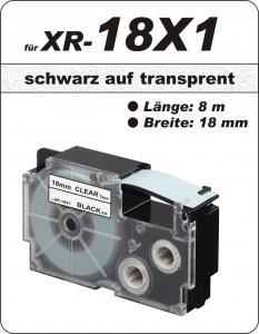 schwarz auf transparent - (18 mm)