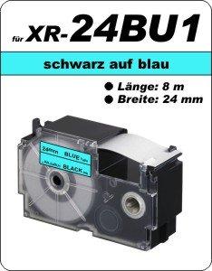 schwarz auf blau - (24 mm)