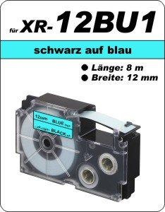 schwarz auf blau - (12 mm)