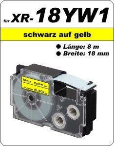 schwarz auf gelb - (18 mm)