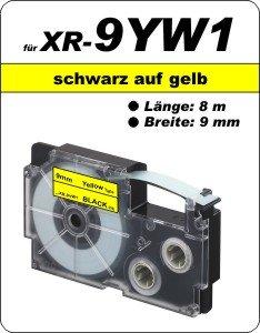 schwarz auf gelb - (9 mm)
