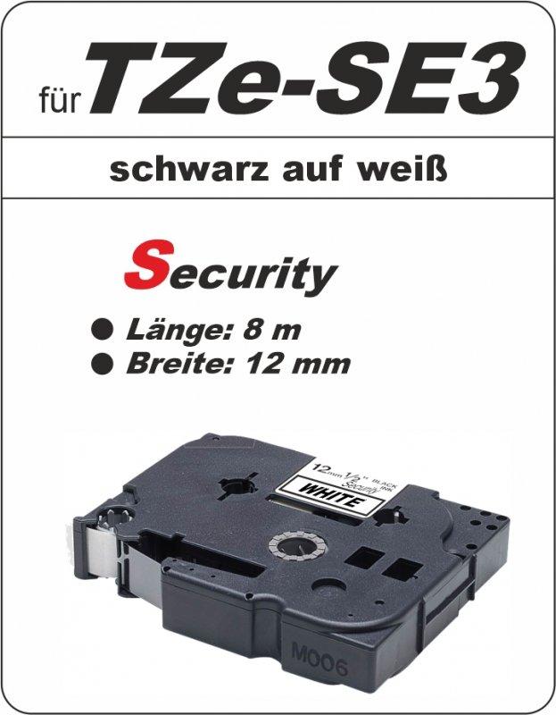 schwarz auf weiß - 100% TZe-S3 (12 mm) komp.