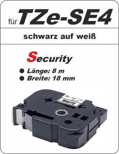 schwarz auf weiß - 100% TZe-S4 (18 mm) komp.